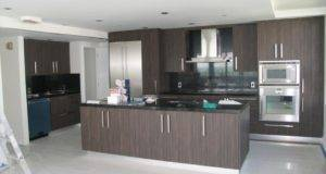 Kitchen Cupboards Paint Ceramic Tile Floor Minimalist Modern