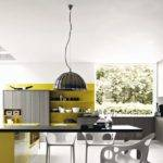 Kitchen Designs Grey Mustard Yellow Modern Design