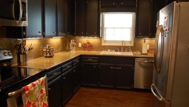 Kitchen Gorgeous Painted Black Cabinets Design Painting