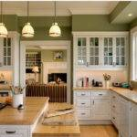 Kitchen Green Color Cabinets