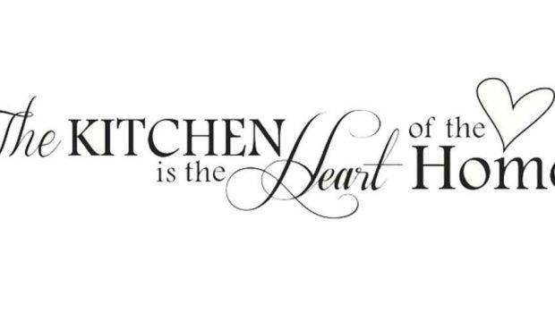 Kitchen Heart Home Vinyl Wall Decal Only