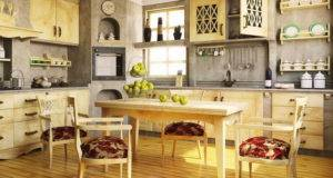 Kitchen Island Decor Idea Wall Gray Rustic