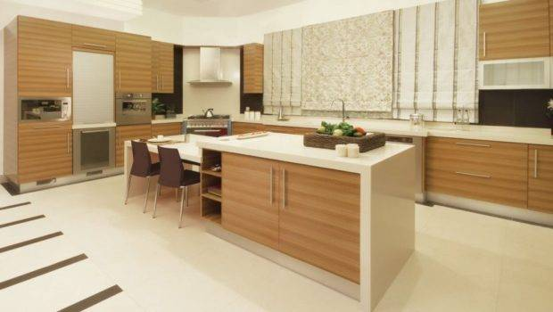 Kitchen Modern Design Brown Cabinets