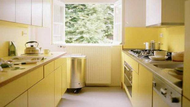 Kitchen Narrow Design Ideas Yellow