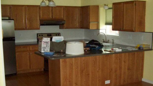 Kitchen Natural Wooden Cabinet Painting Color Ideas
