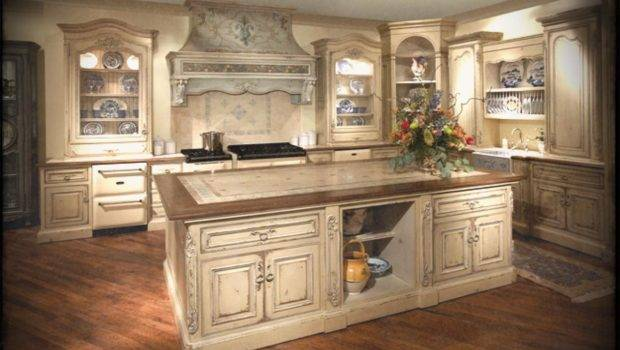 Kitchen Off White Country Cabinets Antique Shaker