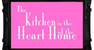 Kitchen Quote Heart Home Vivid