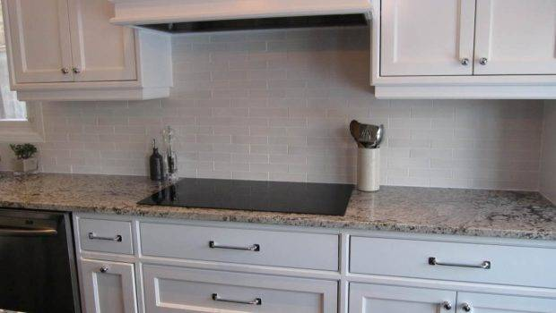 Kitchen Subway Tile Backsplash Ideas White Cabinets