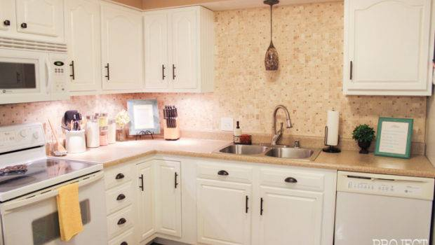 Kitchen Transformation White Cabinets Painted Counters