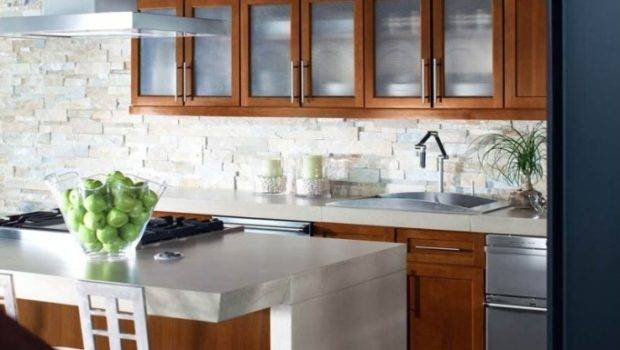 Kitchen Trends Open Shelving Glass Front Cabinets