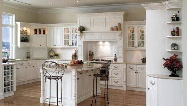 Kitchen White French Country Decorating Ideas