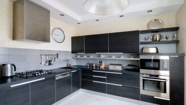 Kitchens Modern Black Kitchen Cabinets