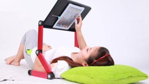 Laid Back Tablet Amp Laptop Table Desk Portable Bed Tray Book Stand