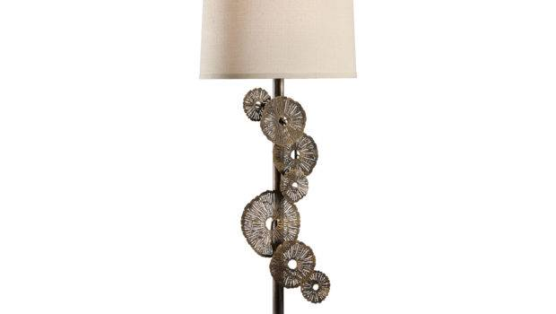 Lamps Laser Cut Aluminum Brass Finished Iron Mounting Luna Table Lamp