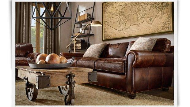 Lancaster Sofa Classic Upholstered Down Brompton Cocoa Leather