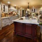 Large Kitchen Designs Ideas Island Completed Cabinet