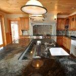 Large Multi Level Island Farmhouse Kitchen Boston