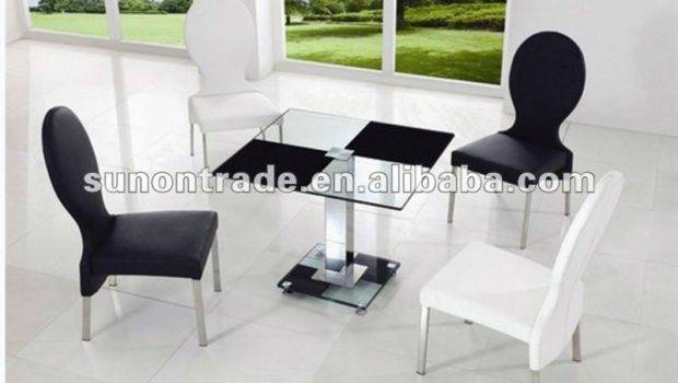 Latest Design Tempered Glass Dining Table Wheels