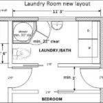 Laundry Room Layout Bathroom