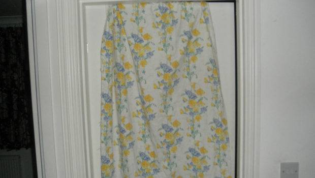 Laura Ashley Vintage Blue Yellow Floral Curtains Ebay