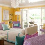Lavender Yellow Bedroom