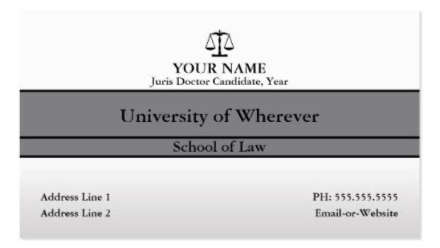 Law Student Business Card Templates