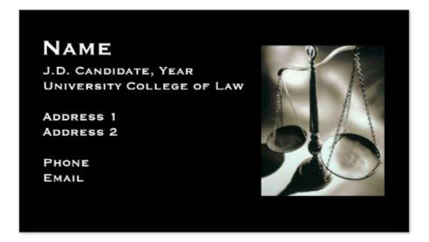 Law Student Business Card Zazzle