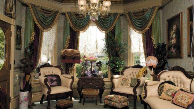 Layers Upon Color Fabric Create Luxurious Parlor