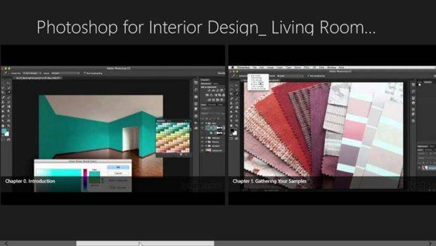 Learning Photoshop Interior Design Living Room Composite Screen