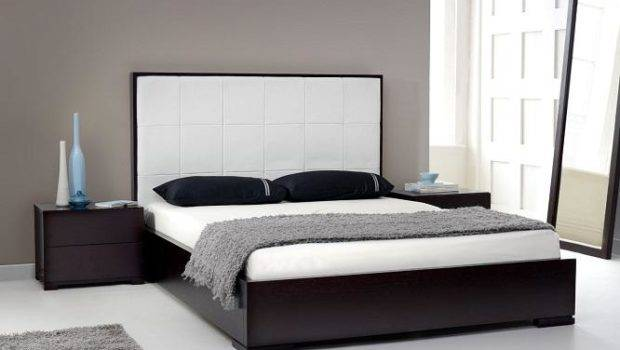 Leather Headboard White Tall
