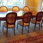 Lehigh Valley Dining Room Rug Solution Solid Top Table Off Center