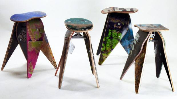 Let Stay Recycled Skateboard Furniture Ideas
