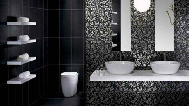 Light Along Black Bathroom Ideas Applied