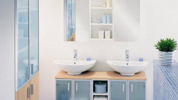 Light Blue Washroom Design Rendering Interior