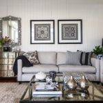 Light Gray Sofas Transitional Living Room Highgate House