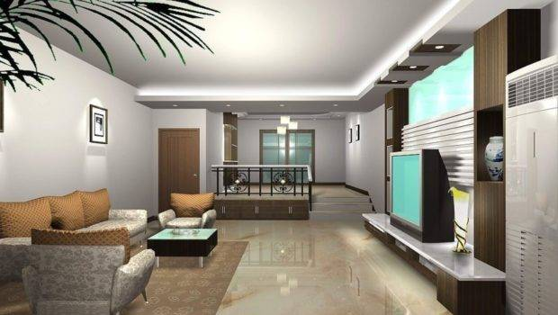 Light Grey Wall Ceiling Living Dining Room House
