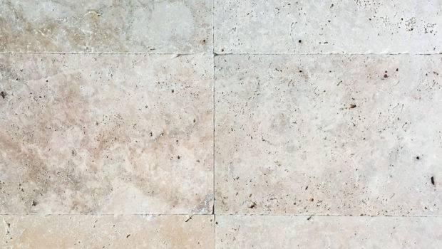 Light Ivory Travertine Tiles Pavers Tumbled Unfilled