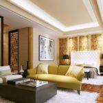 Light Printed Silk Panelled Feature Wall Bedroom China White Furry Rug