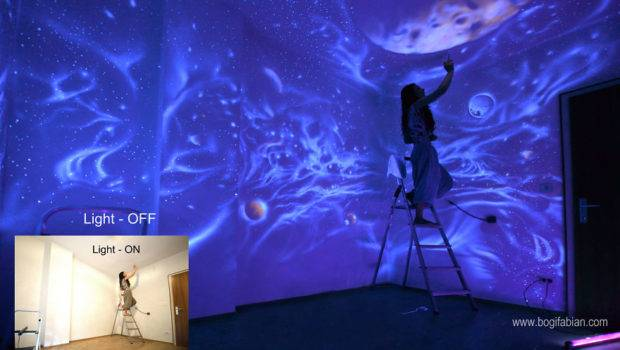 Lights Out Glowing Murals Turn These Rooms Into Dreamy