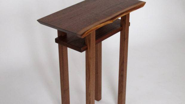 Live Edge Side End Table Small Accent Bed