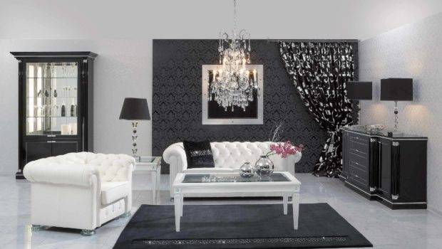 Living Room All Black White Shades Grey Pinterest
