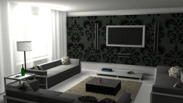 Living Room Awesome Black White Design Ideas Gray