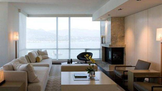 Living Room Contemporary Interior Apartment Design Home