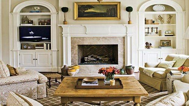 Living Room Cool Fireplace Decorating Ideas