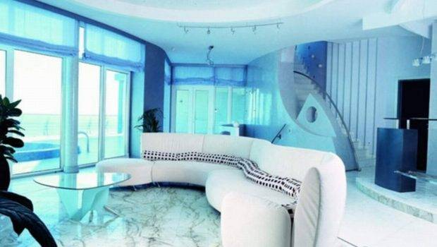 Living Room Cool Rooms Modern Home Design Soft Blue Color