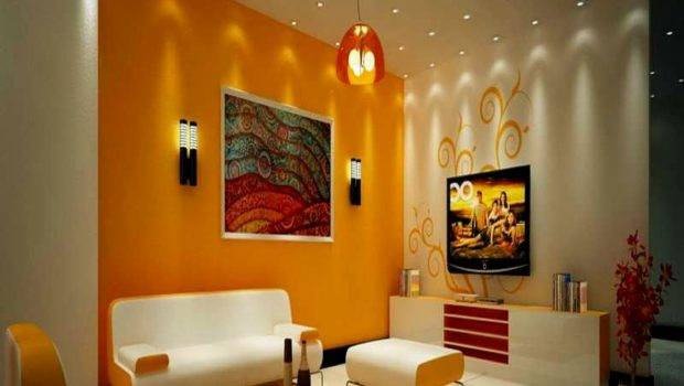 Living Room Credit Color Combination Drawing Wall