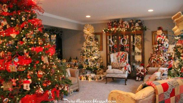 Living Room Decorated Christmas Have Trees