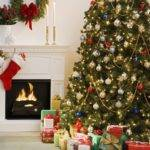 Living Room Decorated Christmas Tree Attractive Cozy