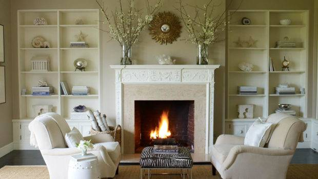 Living Room Design Around Fireplace Review