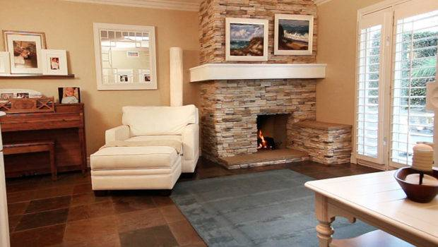 Living Room Designs Cozy Stone Fireplace Furniture